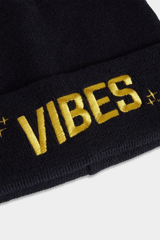 Vibes Beanies Black Closeup Website The Weed Blog - Cannabis News, Culture, Reviews & More