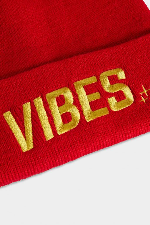 Vibes Beanies Red Closeup Website The Weed Blog - Cannabis News, Culture, Reviews & More